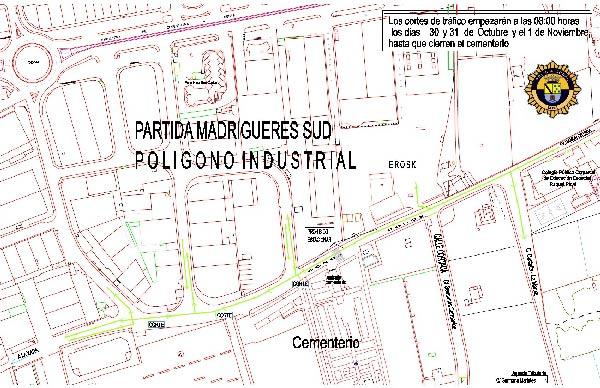 Plano_cortes_calles_Tots_Sants_policia