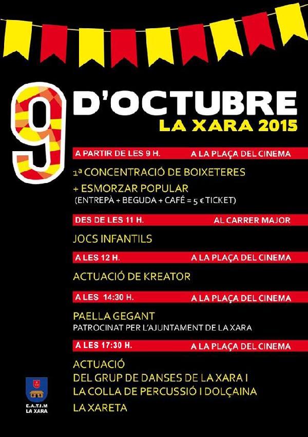 cartell-9-doctubre LA XARA