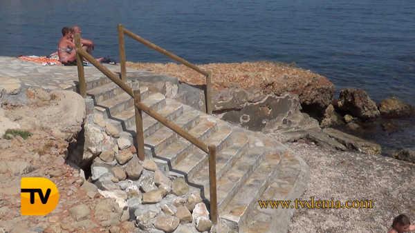 escalera punta negra