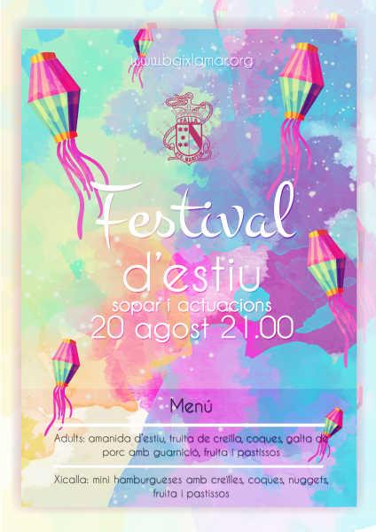 CARTELL FESTIVAL D'ESTIU