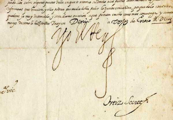 Detalle_firma_carta_rey_Felipe_III
