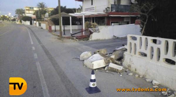 Accidente coche las marinas
