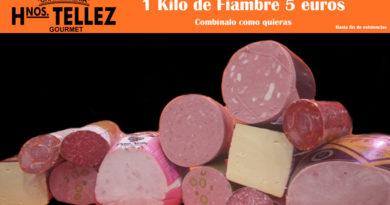 1 kilo de fiambre 5 euros en Hermanos Telléz en el Mercado Municipal