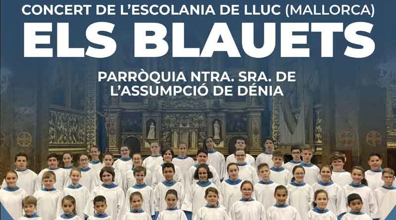 Concierto de Els Blauets en beneficio de Cáritas Dénia el día 19 de octubre