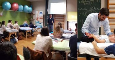 Javier Mengual de la Clinica Kines  imparte curso de Fisioterapia respiratoria Pediátrica en Vigo