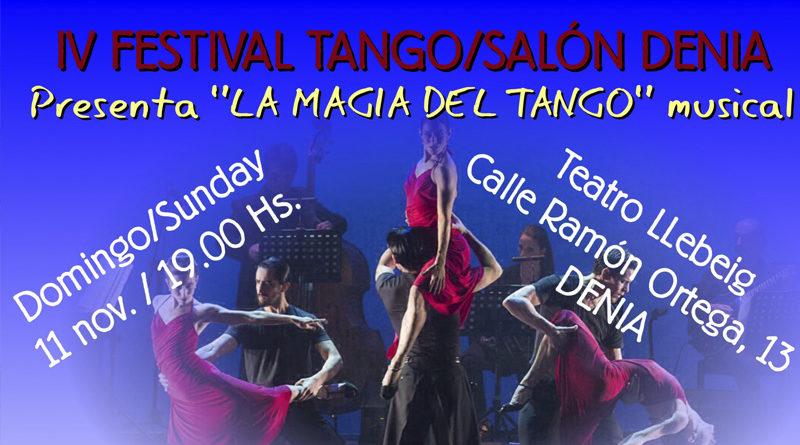 Del 8 al 11 de noviembre se celebra el IV Dénia Tango Festival