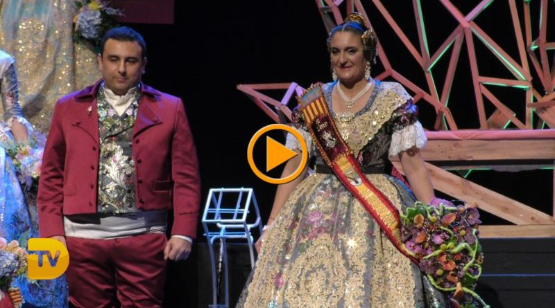 Art efímer per presentar a Mayca Ramos Moll com a Fallera Major de Baix la Mar