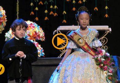 Veu, Música, color, i decorat els elements per presentar a Maria Ots Mut com a Fallera Major infantil de la Falla Centro