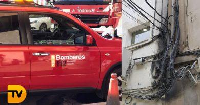 Incendio en un cuadro eléctrico de una vivienda en Dénia