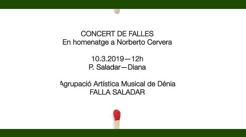 La Falla Saladar dedica el seu Concert de Falles a Norberto Cervera