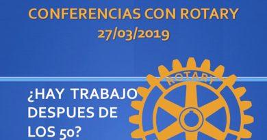 El Club Rotario de Dénia organiza una conferencia que versará entorno a si hay trabajo después de los 50