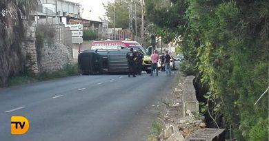Aparatoso accidente  de tráfico en Dénia