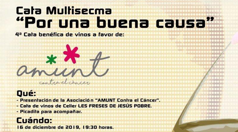Multisecma organiza la 4ª Cata benéfica de vinos a favor de Amunt contra el Càncer