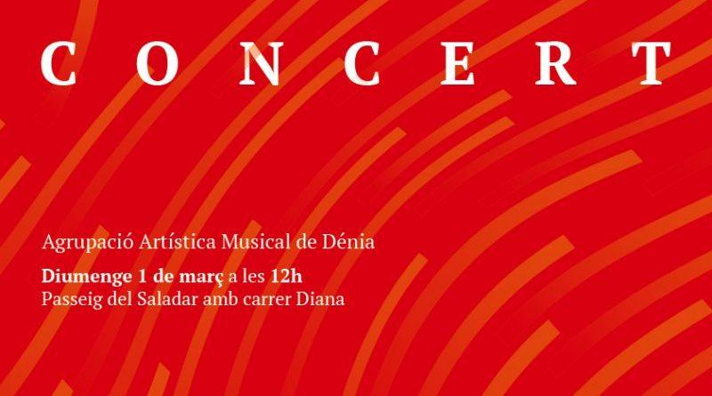 Les Falles arriben al Saladar amb el concert de l'Agrupació Artística Musical de Dénia