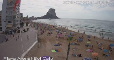 Calp cuenta de nuevo con una webcam en la plaza Colón