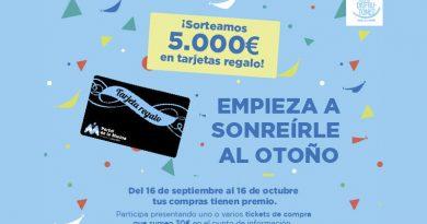 El Centro Comercial Portal de la Marina sortea 5.000 euros en tarjetas regalo