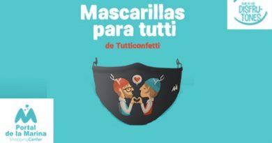 Las compras en el Centro Comercial Portal de la Marina tienen se premian con una mascarilla Tutticonfetti
