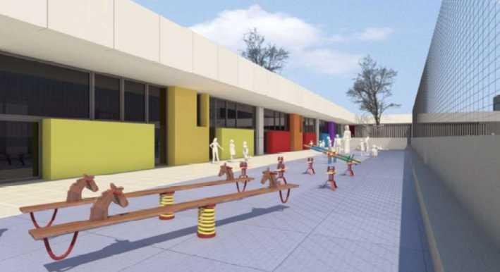 El Ayuntamiento de Dénia aprueba el proyecto del nuevo aulario y gimnasio del colegio Pou de la Muntanya que se sacará a licitación
