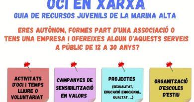 La Xarxa Jove de la Marina Alta comienza el Proyecto Comarcal «Oci en Xarxa», dirigido a profesionales que trabajan con juventud