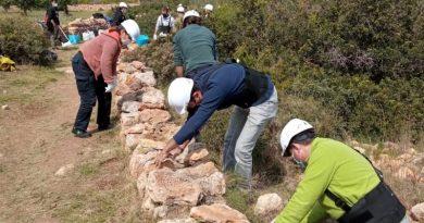 Finaliza el II Curso de piedra seca de la MACMA y la Xarxa Jove Marina Alta