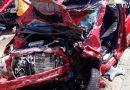 Impactante accidente entre un camión y coche en Pego