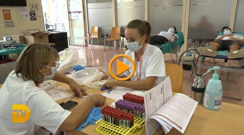 Doce nuevos donantes en la Maratón de Donación de sangre de Dénia