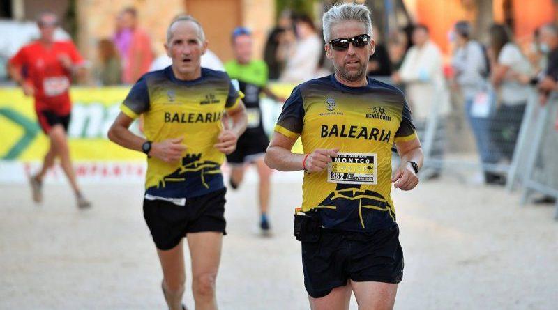 Moha Rida Younes y Mª Isabel Ferrer, del Dénia Corre, ganadores del 'Cross Baix Montgó'